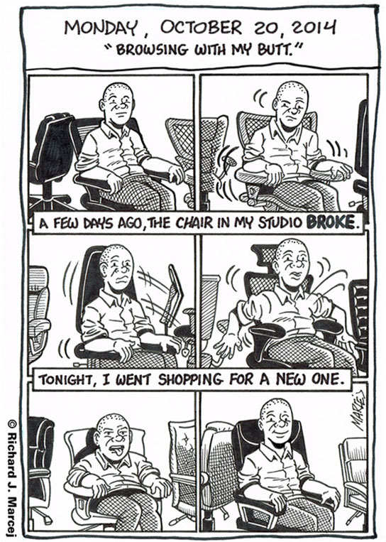 """Daily Comic Journal: October 20, 2014: """"Browsing With My Butt."""""""