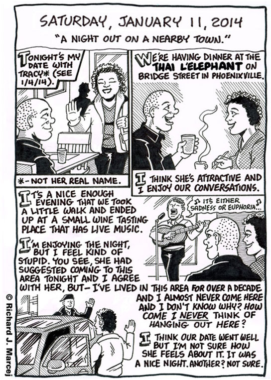"Daily Comic Journal: January 11, 2014: ""A Night Out On A Nearby Town."""