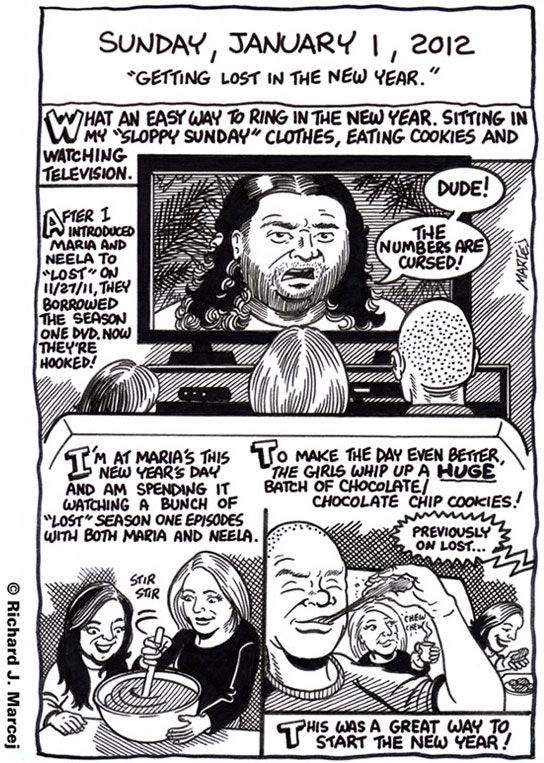 "Daily Comic Journal: January 1, 2012: ""Getting Lost In The New Year."""