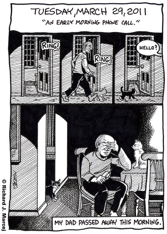 """Daily Comic Journal: March 29, 2011: """"An Early Morning Phone Call."""""""