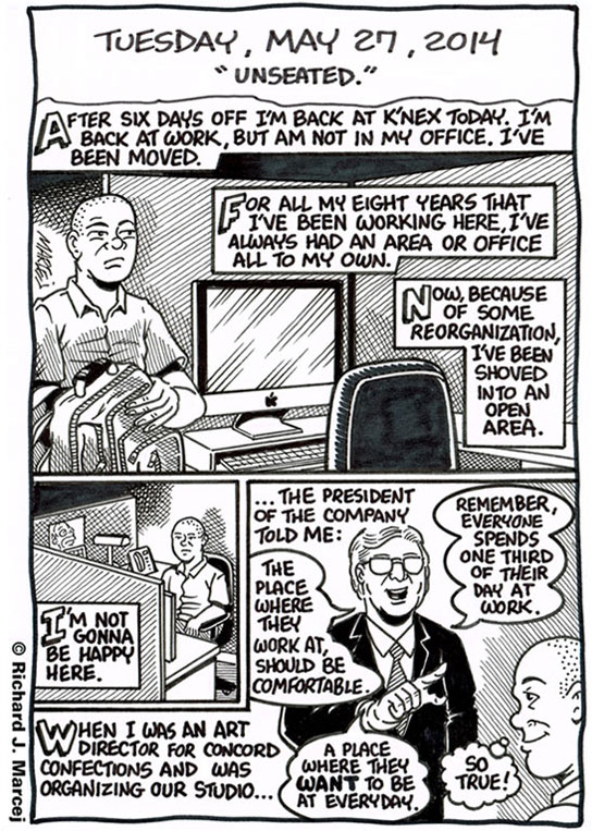 "Daily Comic Journal: May 27, 2014: ""Unseated."""
