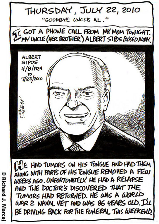 "Daily Comic Journal: July 22, 2010: ""Goodbye Uncle Al."""