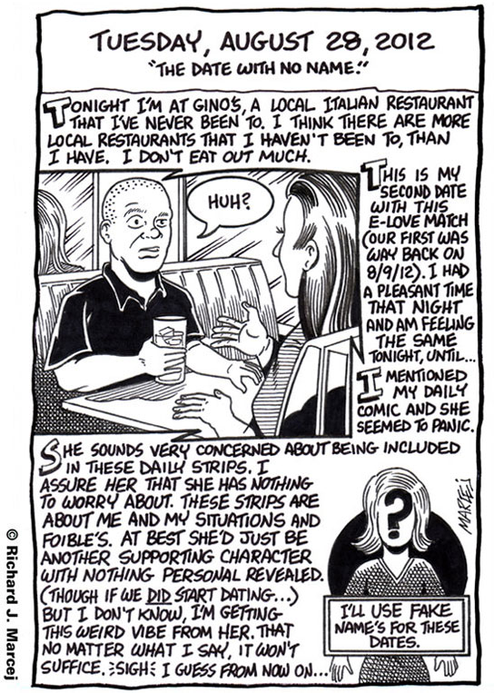 "Daily Comic Journal: August 28, 2012: ""The Date With No Name."""