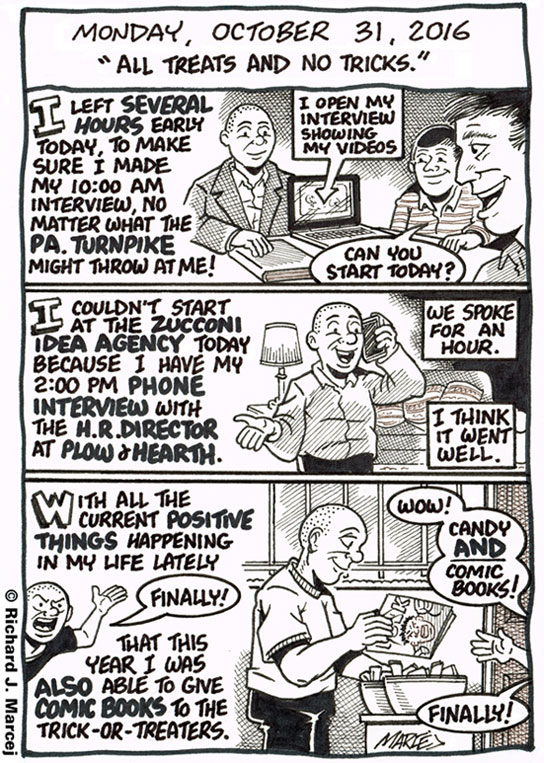 """Daily Comic Journal: October 31, 2016: """"All Treats And No Tricks."""""""