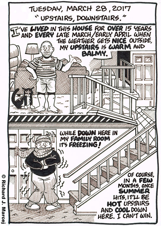 "Daily Comic Journal: March 28, 2017: ""Upstairs, Downstairs."""