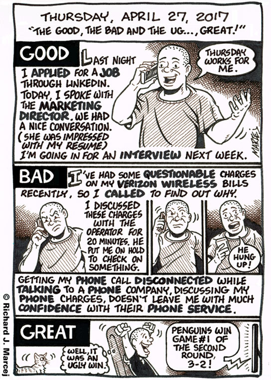 """Daily Comic Journal: April 27, 2017: """"The Good, The Bad And The Ug…, Great!"""""""