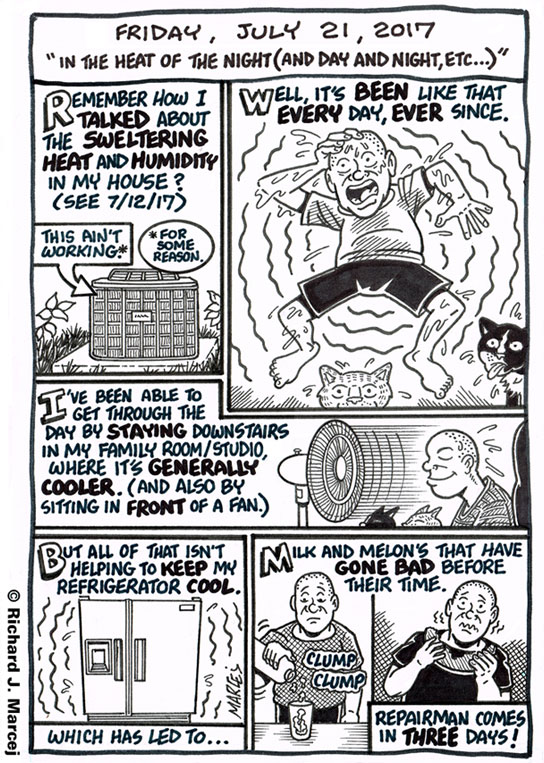 "Daily Comic Journal: July 21, 2017: ""In The Heat Of The Night (And Day And Night, Etc…)"""