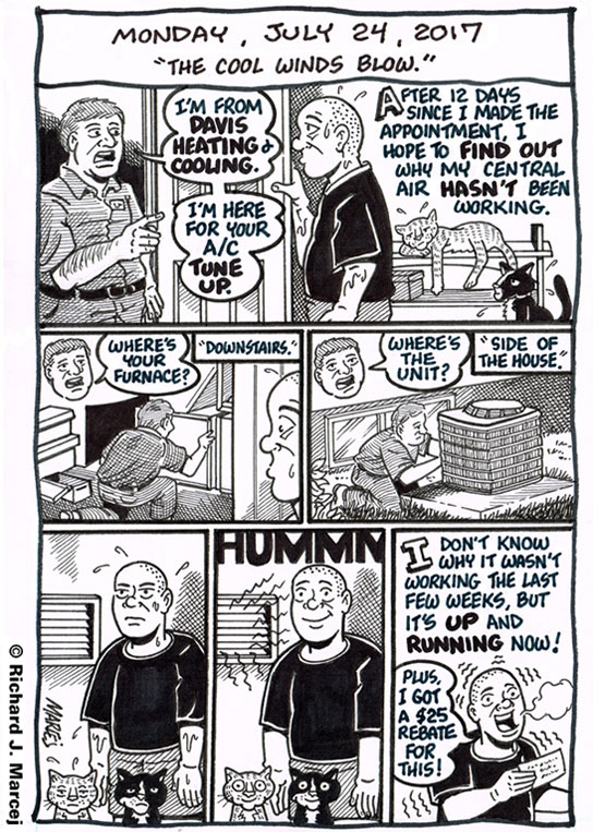 "Daily Comic Journal: July 24, 2017: ""The Cool Winds Blow."""