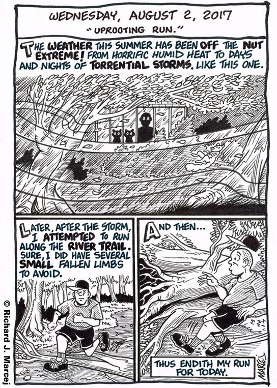 """Daily Comic Journal: August 2, 2017: """"Uprooted Run."""""""
