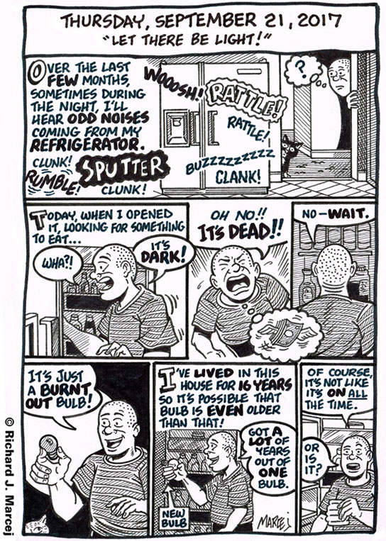 "Daily Comic Journal: September 21, 2017: ""Let There Be Light!"""