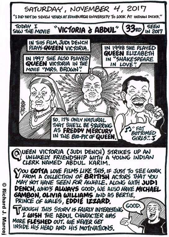 """Daily Comic Journal: November 4, 2017: """"I Did Not Do Seven Years At Edinburgh University To Look At Indian Dicks."""""""
