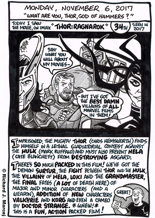 """Daily Comic Journal: November 6, 2017: """"What Are You, Thor, God Of Hammers?"""""""