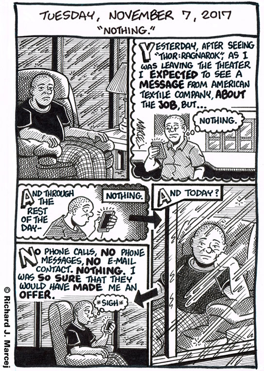 "Daily Comic Journal: November 7, 2017: ""Nothing."""