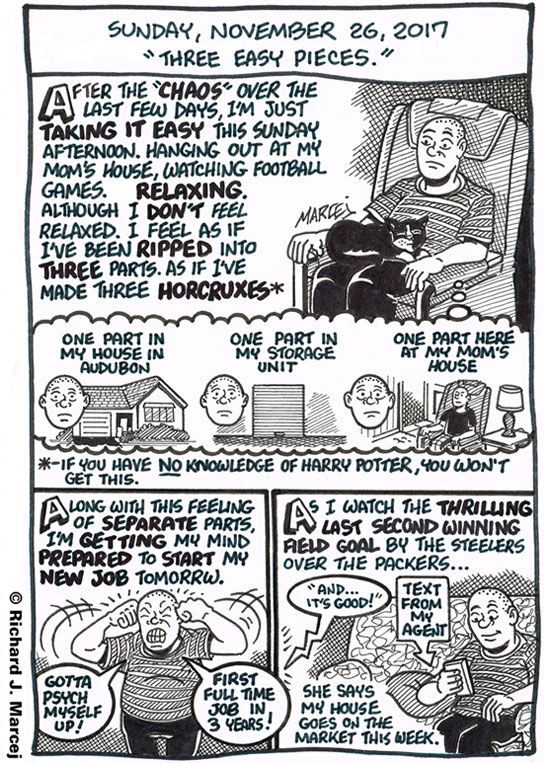 """Daily Comic Journal: November 26, 2017: """"Three Easy Pieces."""""""