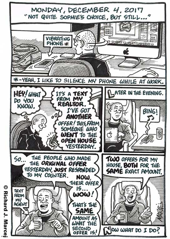 """Daily Comic Journal: December 4, 2017: """"Not Quite Sophie's Choice, But Still…"""""""